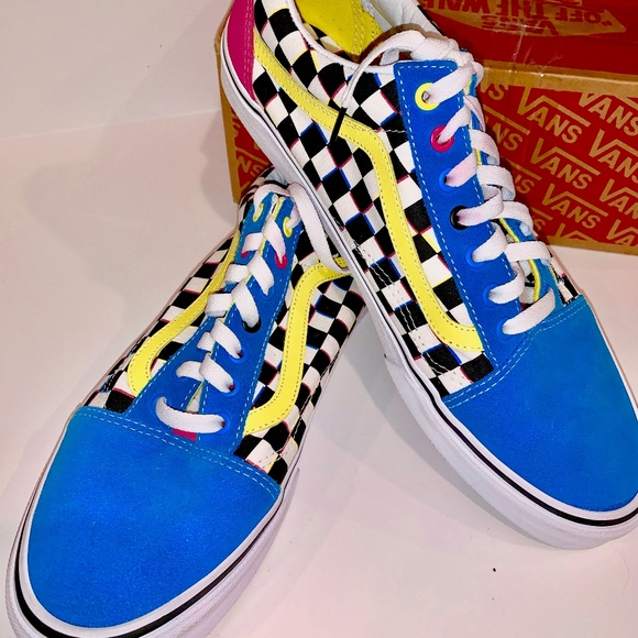 Nwot Vans Old Skool Crazy Chex Sneakers